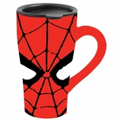 Spiderman Mask Ceramic Travel Mug