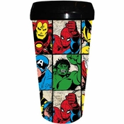 Marvel Grid Plastic Travel Mug
