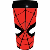 Spiderman Mask Plastic Travel Mug