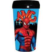 Spiderman NYC Plastic Travel Mug