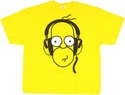 Simpsons Homer Headphones T Shirt