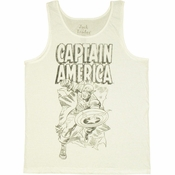 Captain America Burst Tank Top