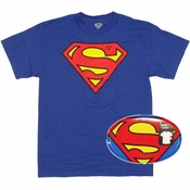 Superman Logo T Shirt in Tin
