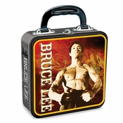 Bruce Lee Nunchaku Tin Lunch Box