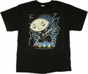 Family Guy Stewie Guitar Bolts T Shirt