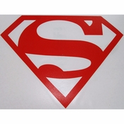 Superman Logo Red Decal