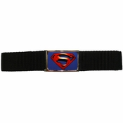 Superman Returns Logo Black Mesh Belt