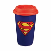 Superman Insulated Ceramic Travel Mug