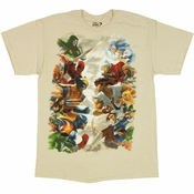 Marvel vs Capcom 3 Sky Battle T Shirt
