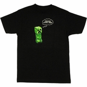 Minecraft Creepers Gonna Creep T Shirt