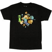 Minecraft Run Away T Shirt