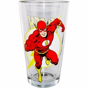 Flash Run Logo Pint Glass