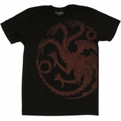 Game of Thrones Targaryen Vintage T Shirt Sheer