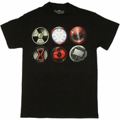 Avengers Movie Icons T Shirt