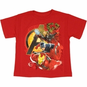 Avengers Movie Stack Juvenile T Shirt