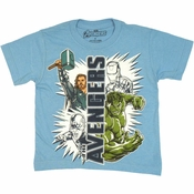 Avengers Movie UV Ink Juvenile T Shirt