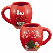 Peanuts Happy Holidays Oval Mug