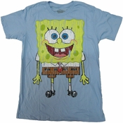 Spongebob Squarepants Vintage T Shirt Sheer