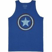 Captain America Logo Blue Tank Top