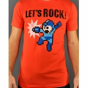 Mega Man Lets Rock T Shirt Sheer