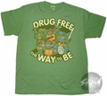 Teenage Mutant Ninja Turtles Drug Free T-Shirt Sheer
