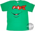 Teenage Mutant Ninja Turtles Raphael Face T-Shirt