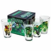 Green Lantern Pint Glass Set