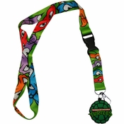 Ninja Turtles Shell Charm Lanyard