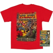 Captain America Cover T Shirt in Tin
