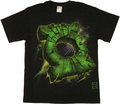 Green Lantern Cracked Logo T Shirt