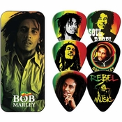 Bob Marley Rasta Guitar Pick Set