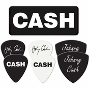 Johnny Cash Name Guitar Pick Set