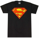 Superman Logo Black T-Shirt