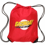 Big Bang Theory Bazinga Red Drawstring Backpack