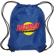 Big Bang Theory Bazinga Blue Drawstring Backpack