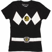 Power Rangers Black Baby Tee
