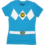 Power Rangers Blue Baby Tee
