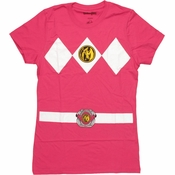 Power Rangers Pink Baby Tee