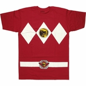 Power Rangers Dark Red T Shirt
