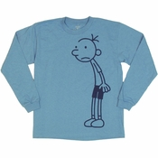 Diary of a Wimpy Kid Greg Full Blue Youth T Shirt