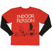 Diary of a Wimpy Kid Indoor Red Black Youth T Shirt