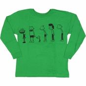 Diary of a Wimpy Kid Line Green Youth T Shirt