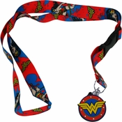 Wonder Woman Splatter Charm Lanyard