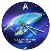 Star Trek Enterprise Clock