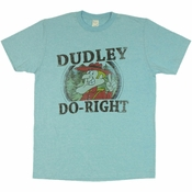 Rocky and Bullwinkle Dudley Do Right T Shirt Sheer