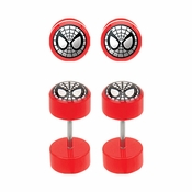 Spiderman Faux Plug Earrings