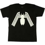 Venom Solid Spider T Shirt Sheer