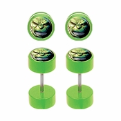 Incredible Hulk Faux Plug Earrings