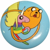 Adventure Time Jake and Lady Rainicorn Button