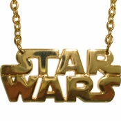 Star Wars Name Gold Necklace